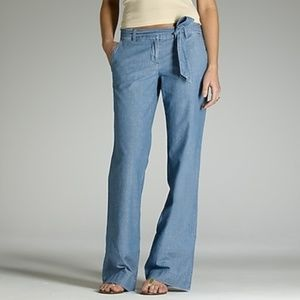J Crew | Faded-Chambray Seaside Flare Jean Pant